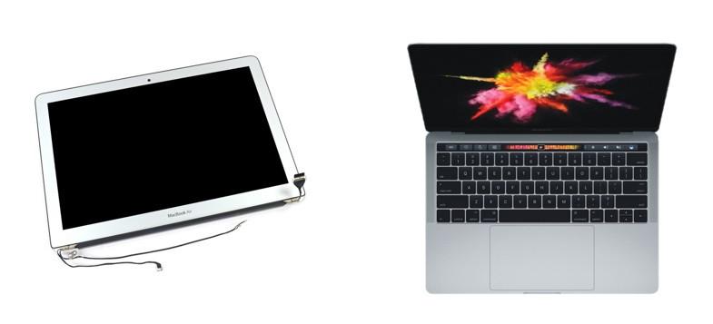 Замена дисплея в сборке MacBook