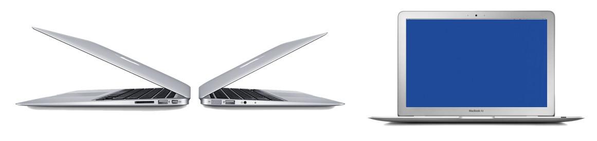 Синий экран MacBook